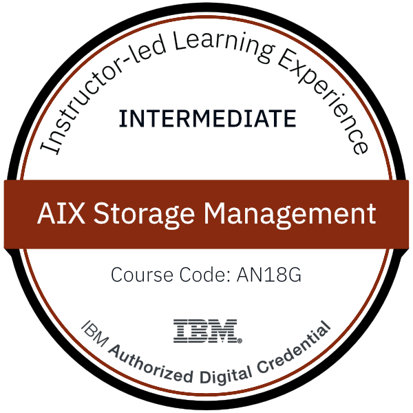 AIX Storage Management - Code: AN18G