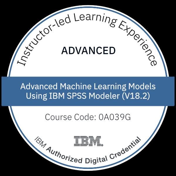 Advanced Machine Learning Models Using IBM SPSS Modeler (V18.2)