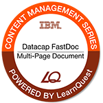 LearnQuest IBM Datacap FastDoc Multi-Page Document