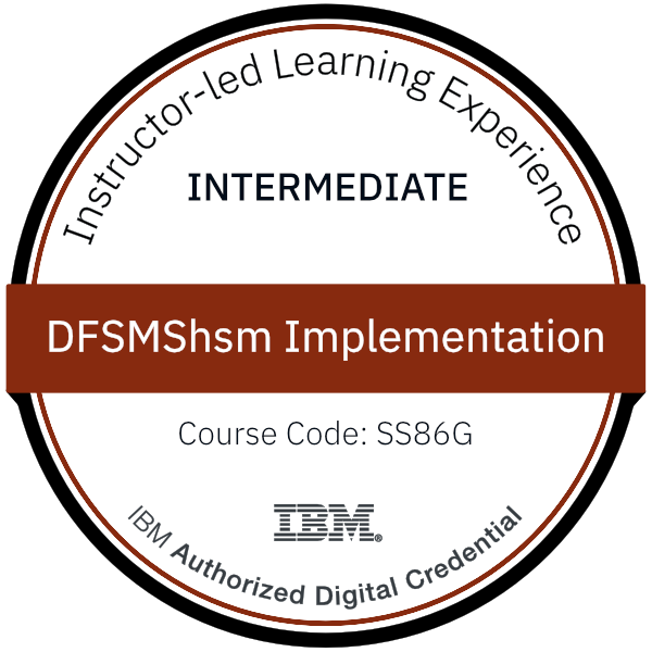 DFSMShsm Implementation - Code: SS86G