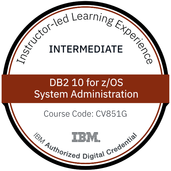 Db2 10 for z/OS System Administration - Code: CV851G