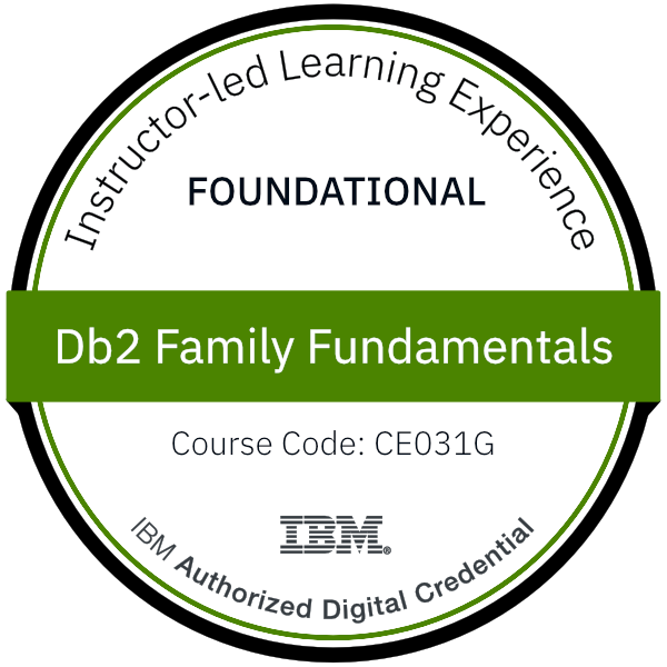 Db2 Family Fundamentals - Code: CE031G