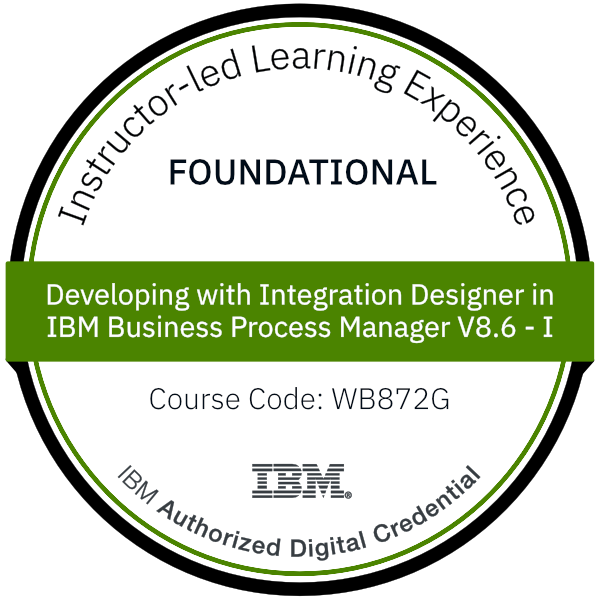 Developing with Integration Designer in IBM Business Process Manager V8.6 - I - Code: WB872G