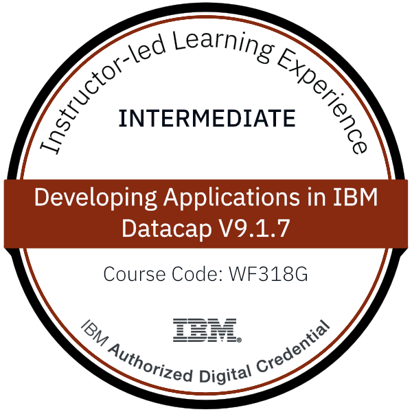 Developing Applications in IBM Datacap V9.1.7 - Code: WF318G
