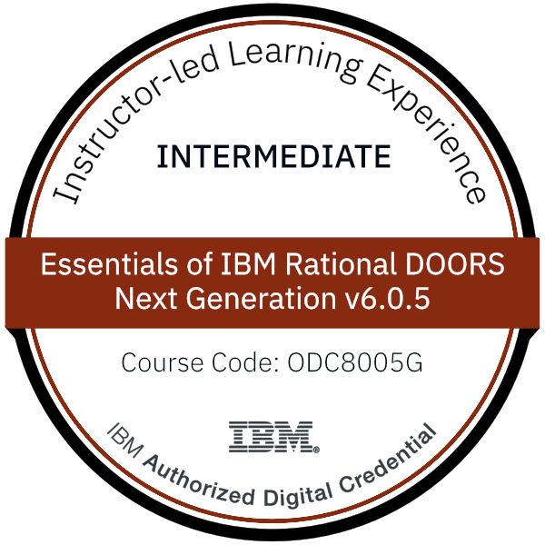 Essentials of IBM Rational DOORS Next Generation v6.0.5 - Code: ODC8005G