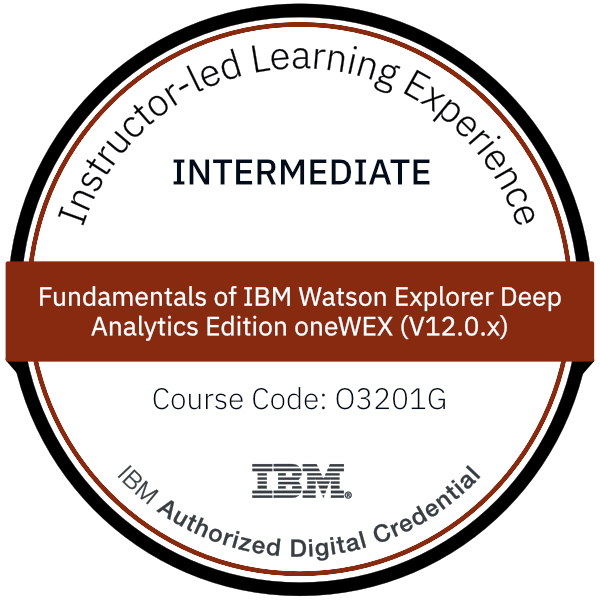 Fundamentals of IBM Watson Explorer Deep Analytics Edition oneWEX (V12.0.x) - Code: O3201G