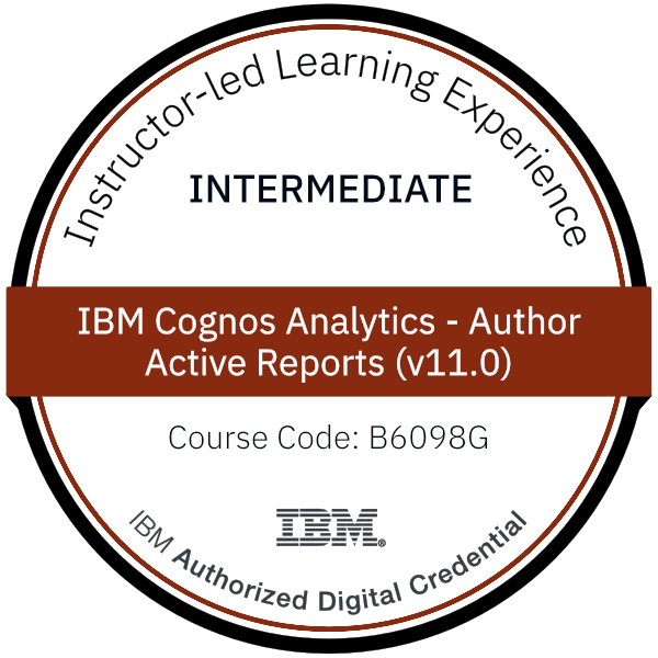 IBM Cognos Analytics - Author Active Reports (v11.0) - Code: B6098G