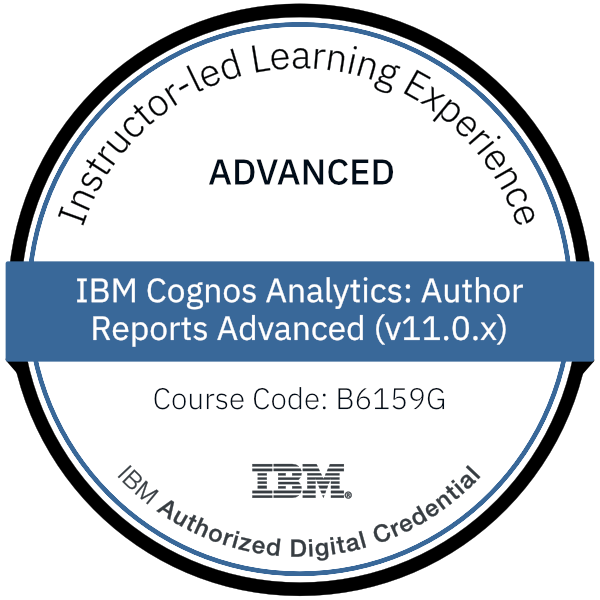 IBM Cognos Analytics: Author Reports Advanced (v11.0.x) - Code: B6159G