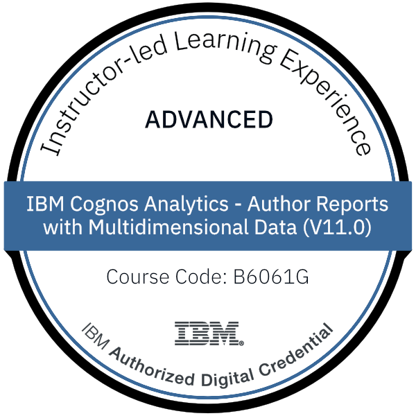IBM Cognos Analytics - Author Reports with Multidimensional Data (V11.0) - Code: B6061G