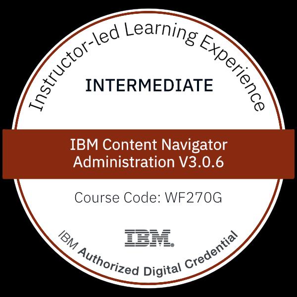 IBM Content Navigator Administration V3.0.6 - Code: WF270G