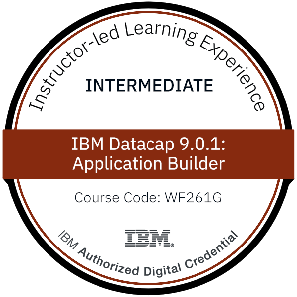 IBM Datacap 9.0.1: Application Builder - Code: WF261G