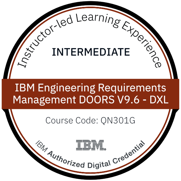 IBM Engineering Requirements Management DOORS V9.6 - DXL - Code: QN301G