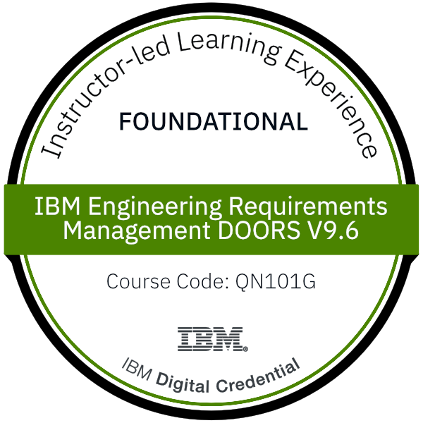 IBM Engineering Requirements Management DOORS V9.6 - Foundation - Code: QN101G