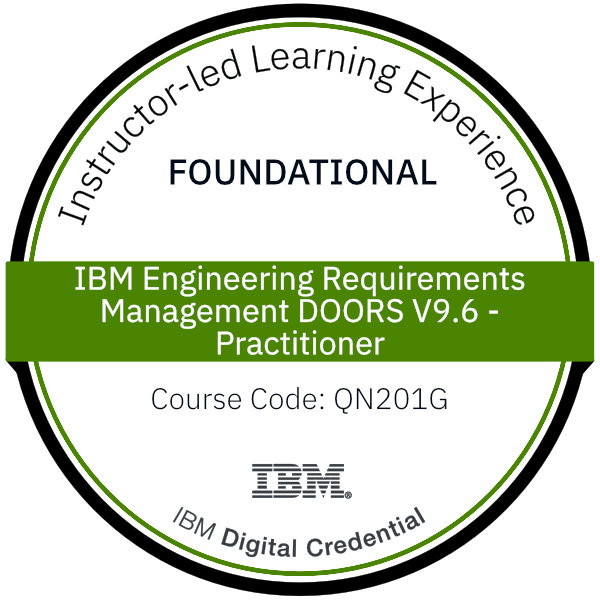 IBM Engineering Requirements Management DOORS V9.6 - Practitioner - Code: QN201G