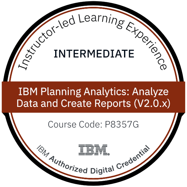IBM Planning Analytics: Analyze Data and Create Reports (V2.0.x) - Code: P8357G