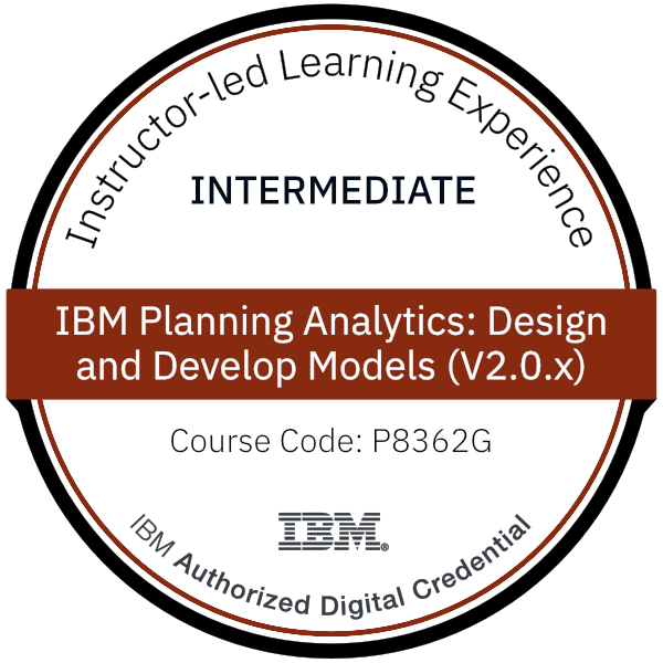 IBM Planning Analytics: Design and Develop Models (V2.0.x) - Code: P8362G