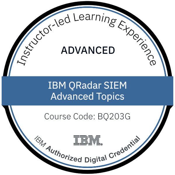 IBM QRadar SIEM Advanced Topics - Code: BQ203G