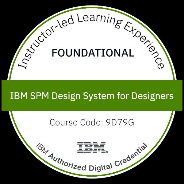 IBM SPM Design System for Designers - Code: 9D79G