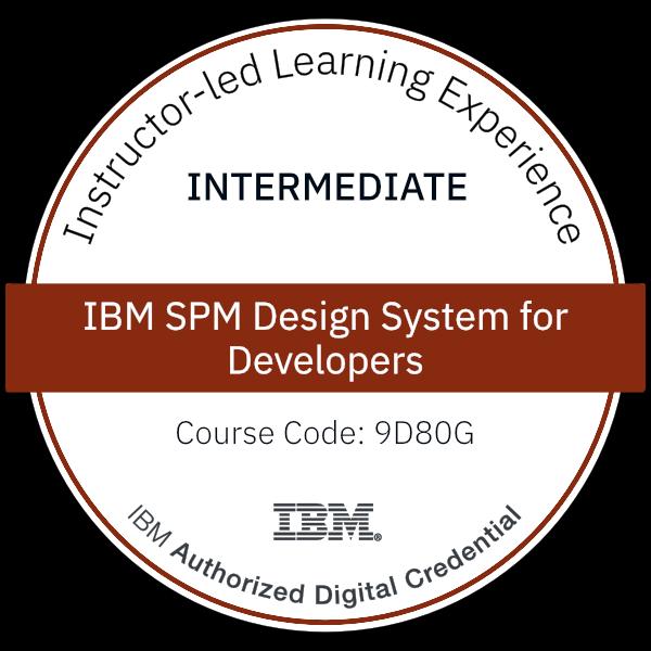 IBM SPM Design System for Developers - Code: 9D80G