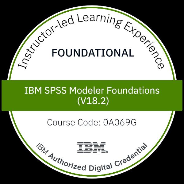 IBM SPSS Modeler Foundations (V18.2) - Code: 0A069G