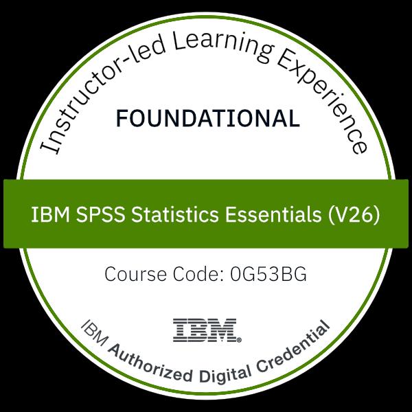 IBM SPSS Statistics Essentials (V26) - Code: 0G53BG