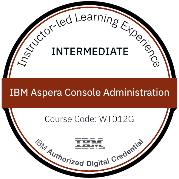 IBM Aspera Console Administration - Code: WT012G