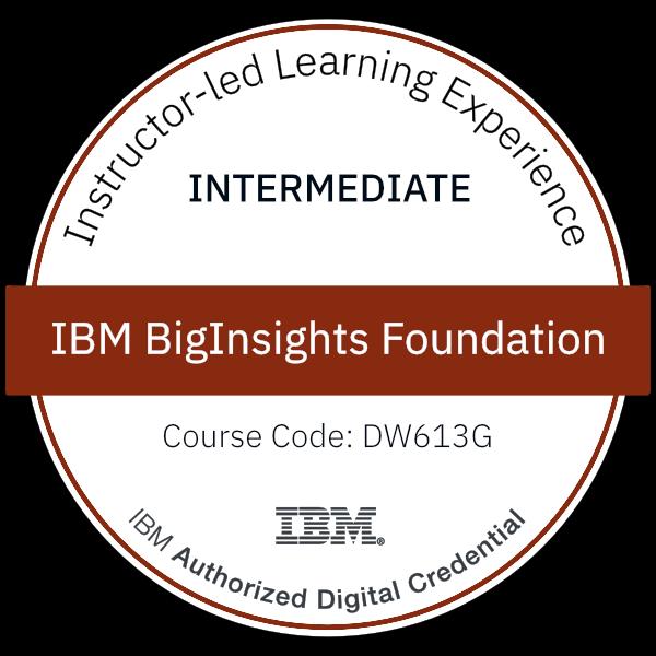 IBM BigInsights Foundation - Code: DW613G