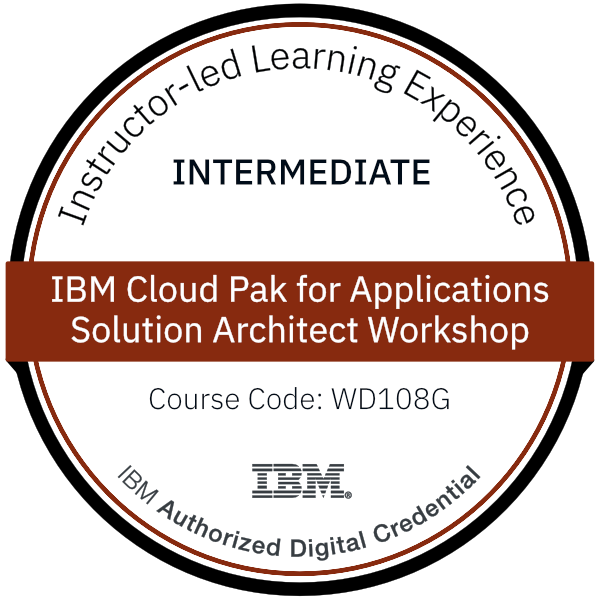 IBM Cloud Pak for Applications Solution Architect Workshop - Code: WD108G