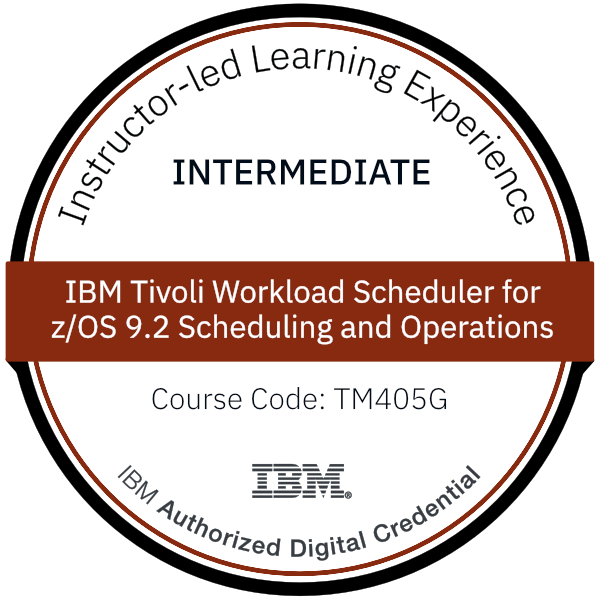 IBM Tivoli Workload Scheduler for z/OS 9.2 Scheduling and Operations - Code: TM405G