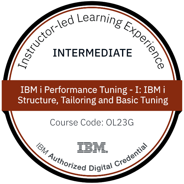 IBM i Performance Tuning - I: IBM i Structure, Tailoring and Basic Tuning - Code: OL23G