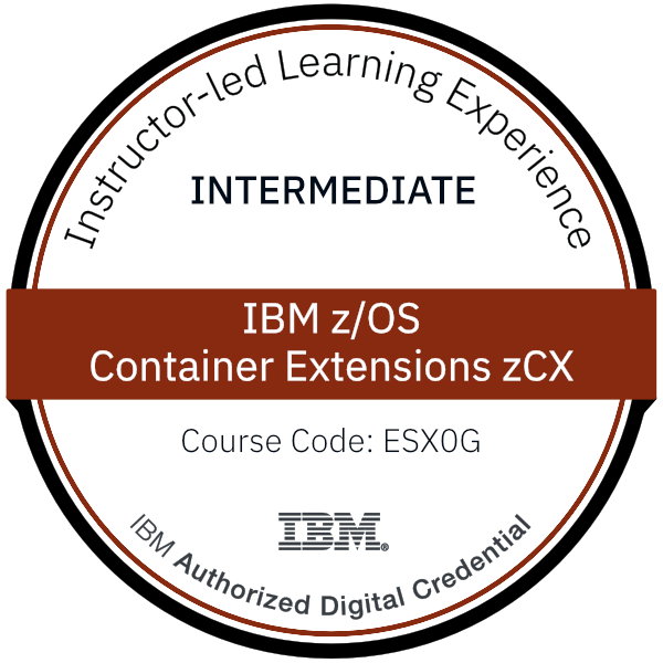 IBM z/OS Container Extensions zCX - Code: ESX0G