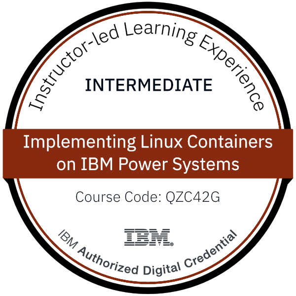 Implementing Linux Containers on IBM Power Systems - Code: QZC42G