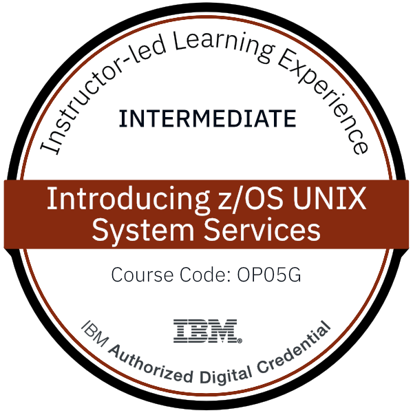 Introducing z/OS UNIX System Services - Code: OP05G