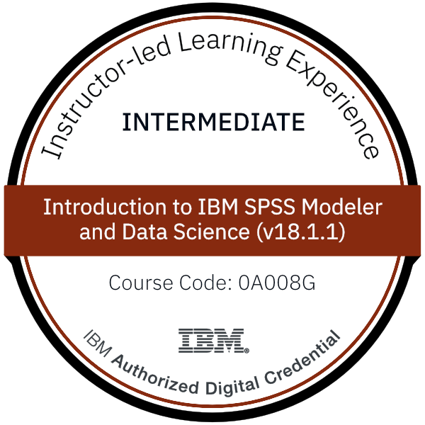 Introduction to IBM SPSS Modeler and Data Science (v18.1.1) - Code: 0A008G
