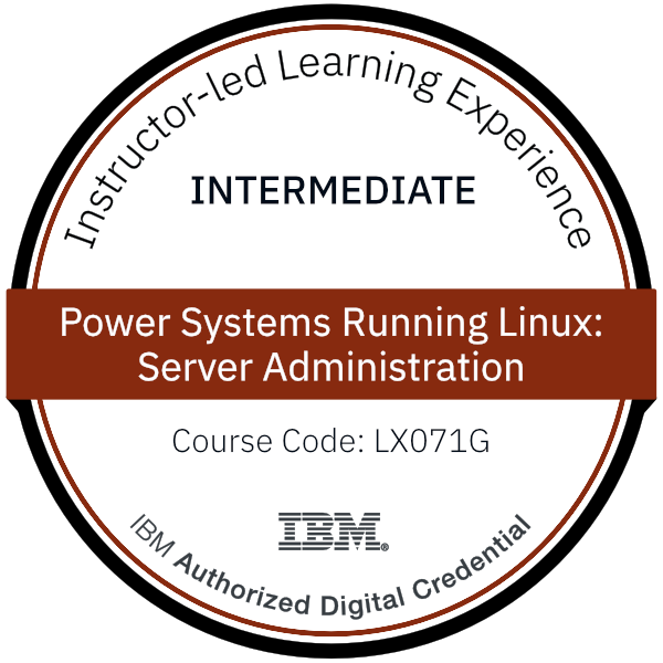 Power Systems Running Linux: Server Administration - Code: LX071G