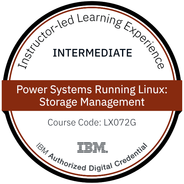 Power Systems Running Linux: Storage Management - Code: LX072G