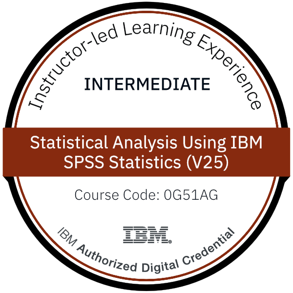 Statistical Analysis Using IBM SPSS Statistics (V25) - Code: 0G51AG