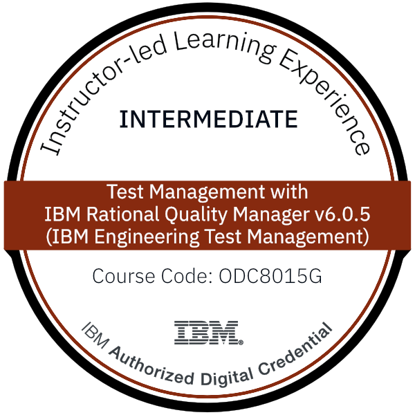 Test Management with IBM Rational Quality Manager v6.0.5 (IBM Engineering Test Management) - Code: ODC8015G