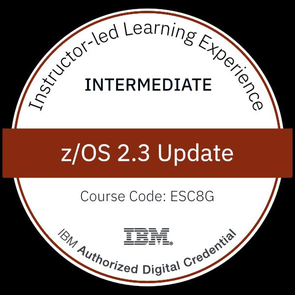 z/OS 2.3 Update - Code: ESC8G