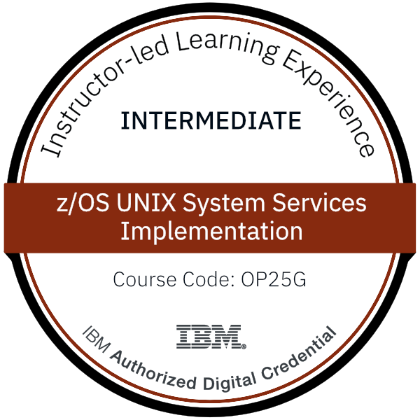 z/OS UNIX System Services Implementation - Code: OP25G