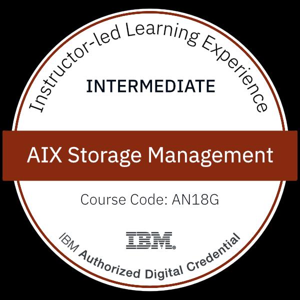 AIX Storage Management - Code: AN18G