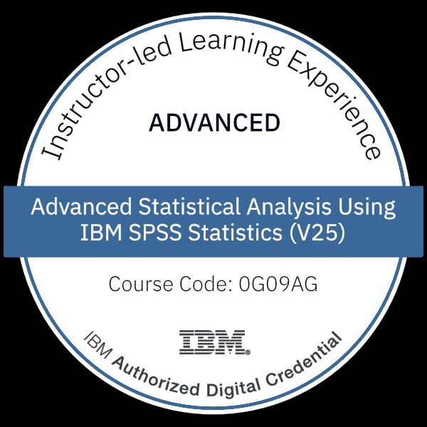 Advanced Statistical Analysis Using IBM SPSS Statistics (V25) - Code: 0G09AG