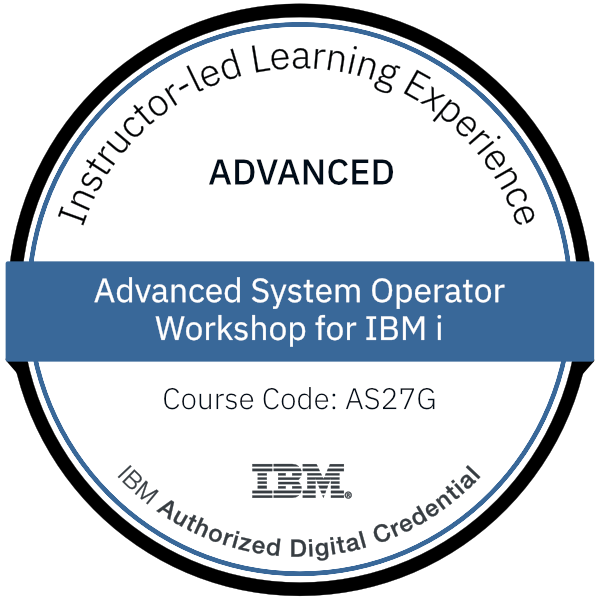 Advanced System Operator Workshop for IBM i - Code: AS27G