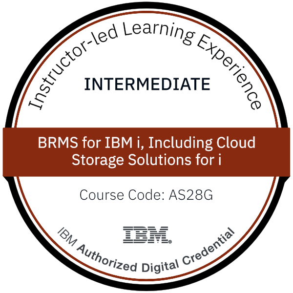 BRMS for IBM i, Including Cloud Storage Solutions for i - Code: AS28G