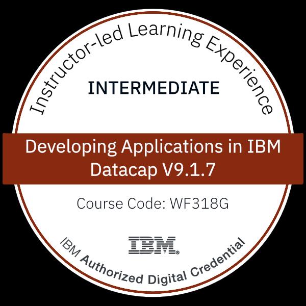 Developing Applications in IBM Datacap V9.1.7 - Code: WF318G