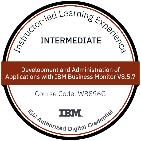 Development and Administration of Applications with IBM Business Monitor V8.5.7 - Code: WB896G