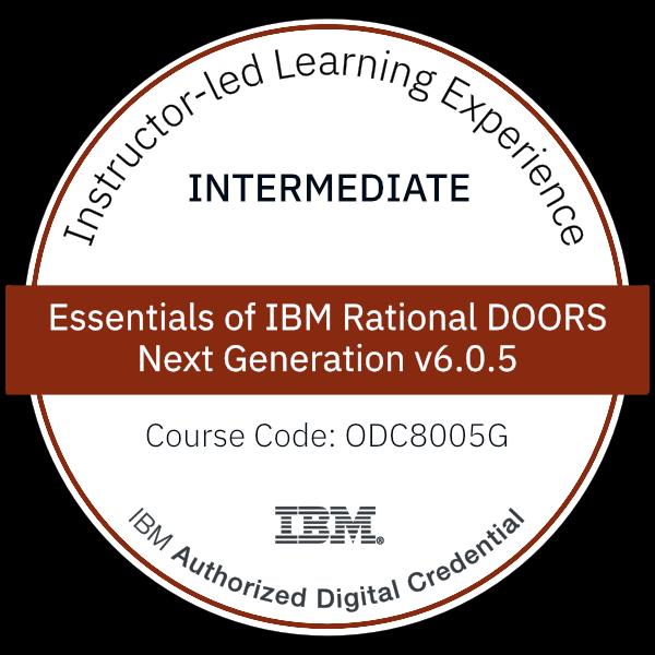Essentials of IBM Rational DOORS Next Generation v6.0.5 - Code: ODC8005G