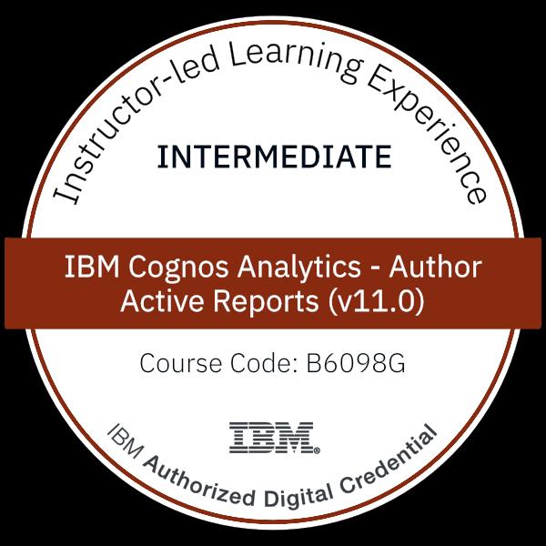 IBM Cognos Analytics - Author Active Reports (v11.0) - Code: B6098G