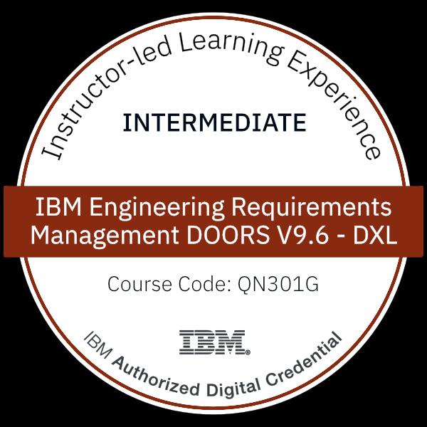 IBM Engineering Requirements Management DOORS V9.6 - DXL - Code: QN301G