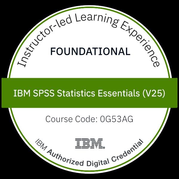 IBM SPSS Statistics Essentials (V25) - Code: 0G53AG